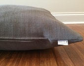 Dark gray Dog beds cover, Neutral colors Dog bed duvets, Gray dog bed covers, dog bed cover, Dog Bed, textured dog bed cover, large dog bed