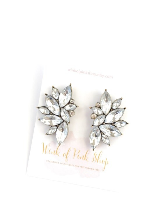 Crystal Flare Earrings