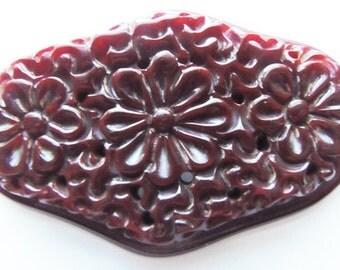 Bakelite Floral Brooch/Pin Vintage 1930