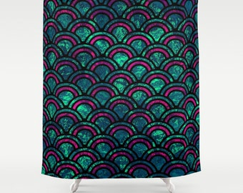 "ARTE DECO      Shower Curtain   71"" BY 74""   Art-Bath-Bathroom-Home Decor-Curtain"