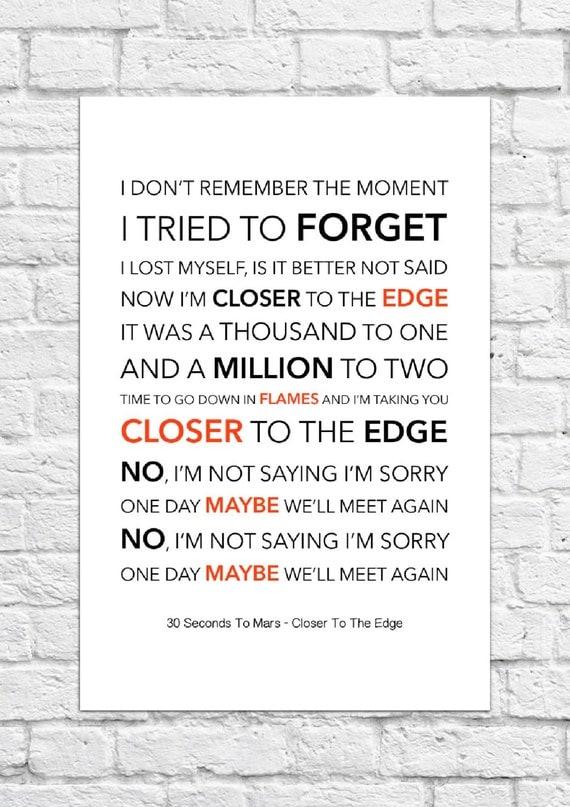 Closer To The Edge Lyrics - songmeanings.com