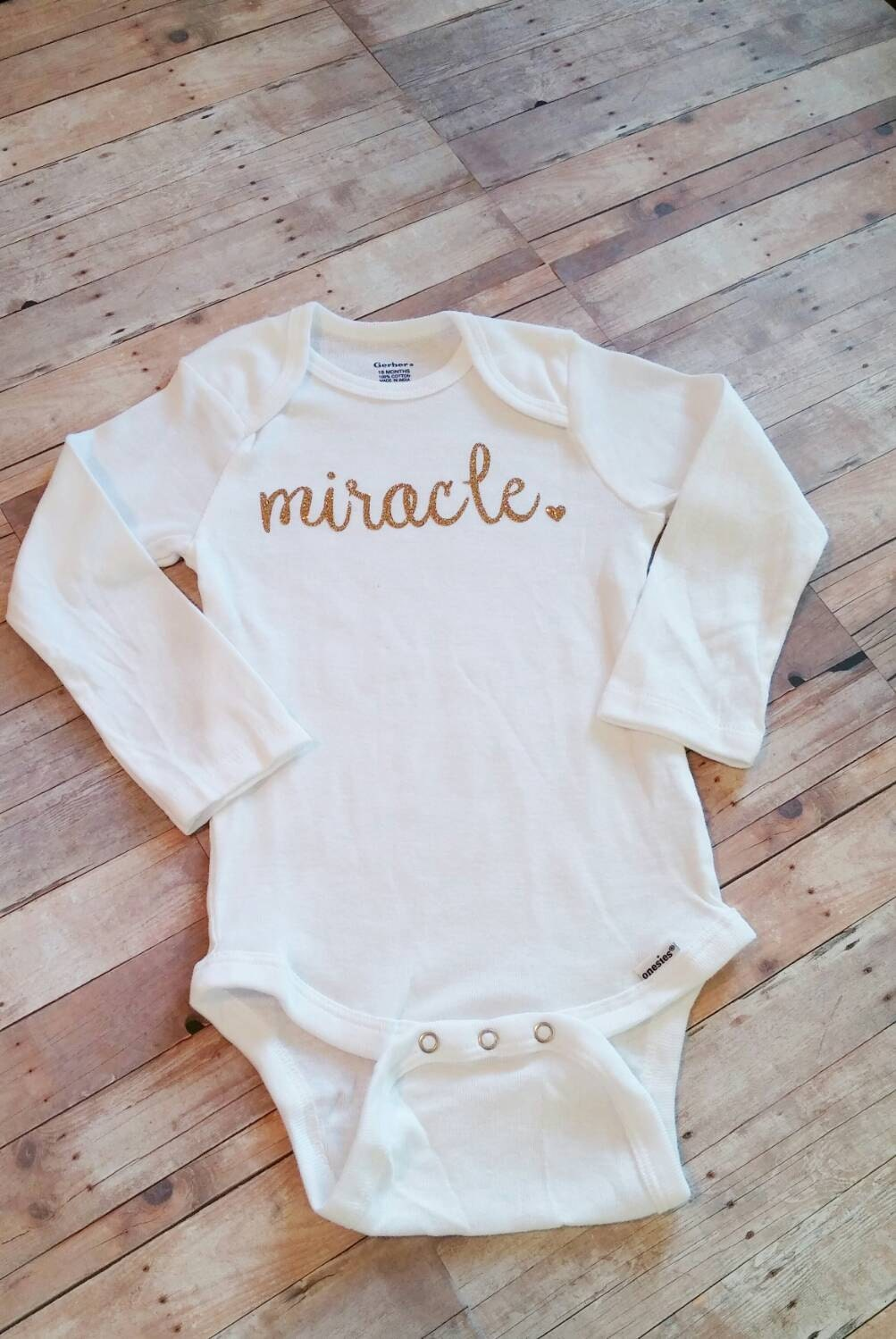 Miracle Bodysuit Preemie Girl Clothes Take Home Outfit