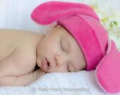 Bunny Hat - Rabbit Hat - Pink Ear Rabbit - Bunny Fleece Hat - Cosplay Hat - Anime Bunny Hat - Easter Hat - Baby Shower Gift - Easter Bunny
