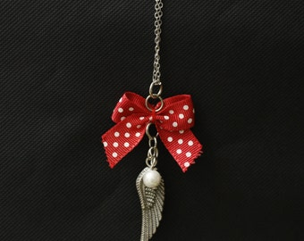 """Wing"" short chain necklace"