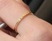 Roman Numeral Ring-Thin Gold Ring-14K Gold Filled Engraved Ring-Christmas Gift-Mother Gift-Gold-Rose Gold Date Ring
