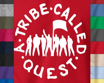 A TRIBE Call QUEST ATCQ Q-Tip Soft Ringspun Cotton T-Shirt De La Soul Wu Tang