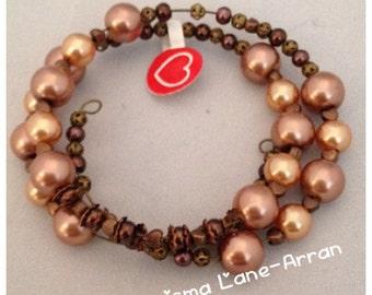 Bronze toned cuff bracelet