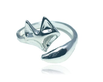 Fox Ring - Silver Toned - Adjustable
