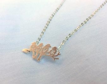 Tiny Love Birds Necklace
