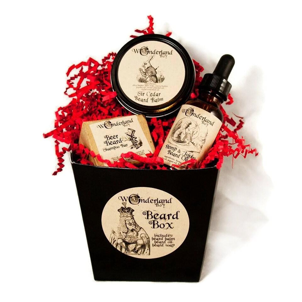 beard grooming gift box beard gift set by wonderlandbathbeauty. Black Bedroom Furniture Sets. Home Design Ideas