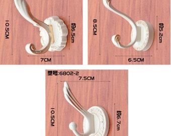 Vintage Wall Hooks White Coat Hook