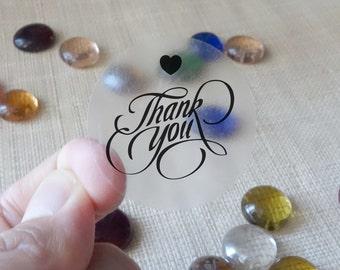 "60 pcs Transparent ""Thank You"" Shipping Labels Scrapbook Stickers Seals #3"