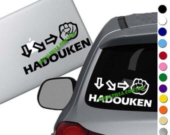 Street Fighter HADOUKEN Decal Sticker