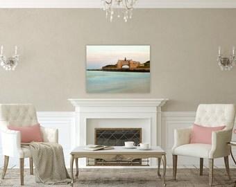 Antiqued Towers ~ Narragansett, Rhode Island, Beach, Photography, Canvas, Coastal, Decor, Wall Art, Nautical, Seascape, Ocean, Gift