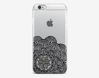 Mandala iPhone 8 Case iPhone X Case Buddha iPhone 7 Plus Case Transparent iPhone 6 Case Clear iPhone 7 iPhone SE Lotus iPhone 5 Galaxy S8