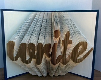 write lowercase - Folded Book Art - Fully Customizable, symbol forever