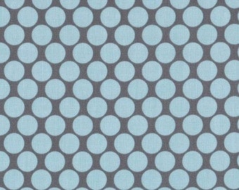 Blue Dots on Gray from Amy Butler's Lotus Collection by Westminister