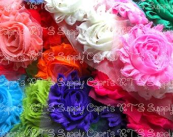 """2.5"""" Solid Colors Shabbies Shabby Flowers Surprise Grab Bag Uncut Untrimmed"""