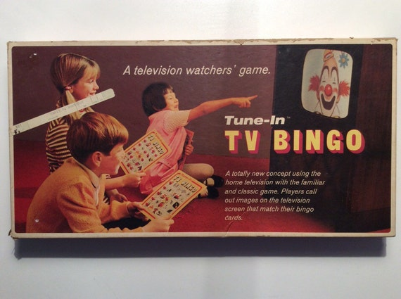 tune in tv bingo game vintage board game by selchow righter. Black Bedroom Furniture Sets. Home Design Ideas