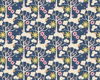 NEW from Tilda ' Pardon My Garden ' Wildgarden Dark Blue Floral Quilting and Craft Fabric Fat Quarter 481118