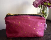 Red Cow print make up bag