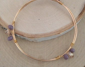 Peach and lavender bracelet