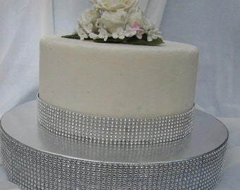 On Sale Wedding Cake Stand Base DIamond Mesh Silver Gold