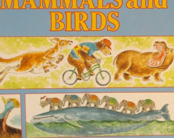 50% Off Joe Kaufman's Big Book About Mammals and Birds, Written and Illustrated by Joe Kaufman, 1989 Was 42.00 NOW