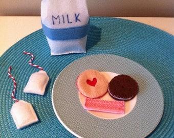 Felt 'Milk and Cookies' Set