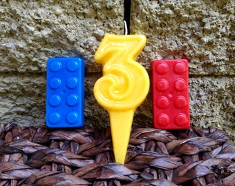 Lego inspired BIRTHDAY CANDLES 6.00