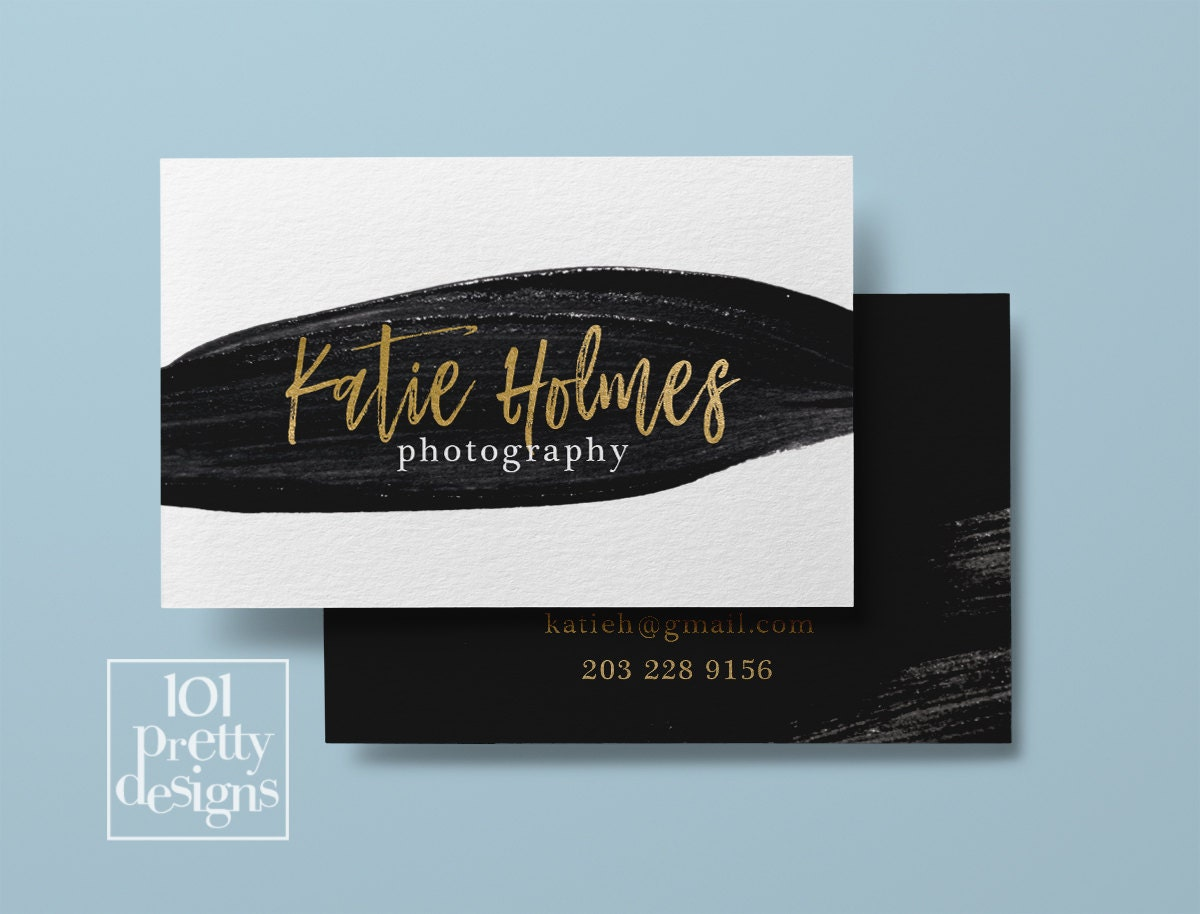Watercolor business card template gold printable business card zoom magicingreecefo Images