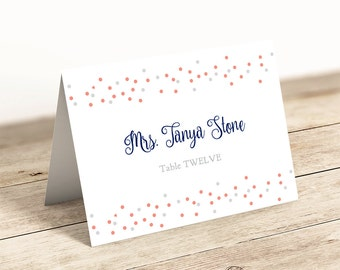 printable folded place cards table name cards template