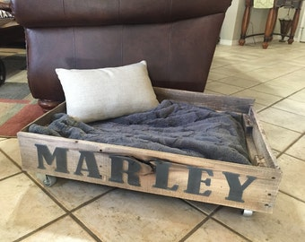 Personalized Rustic Pallet Dog Bed