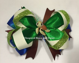 Finding Nemo Inspired Hair Bow Squirt