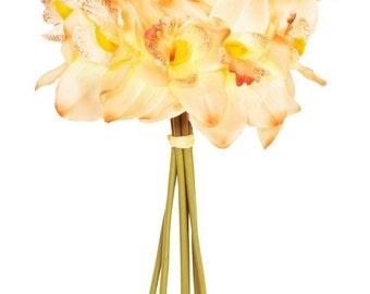 Peach Orchid 7 Stem Bouquet