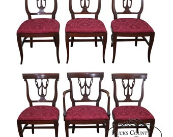 R Way Northern Furniture Mahogany Set Of 6 Regency Style Dining Chairs