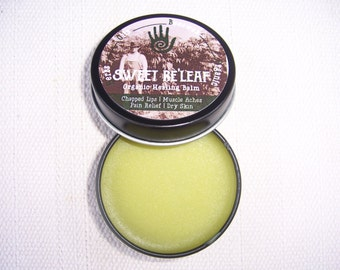 Sweet RE'LEAF: HOBO (Herbs, Oils, Beeswax, Organic) Healing Balm