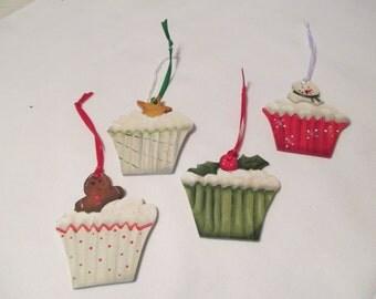 Cupcake Christmas Ornaments