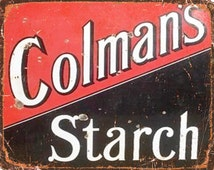 Colmans Mustard English Vintage Advertising Enamel Metal TIN SIGN Wall Plaque
