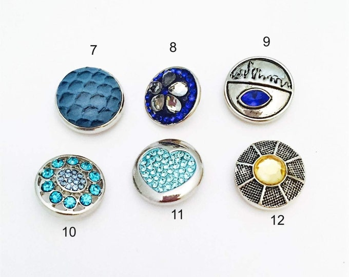 Snap Button Charms for Snap Necklaces or Bracelets, Interchangeable Snaps Jewelry,  Fit all 18mm Ginger Snap Jewelry, and Noosa Snap Jewely