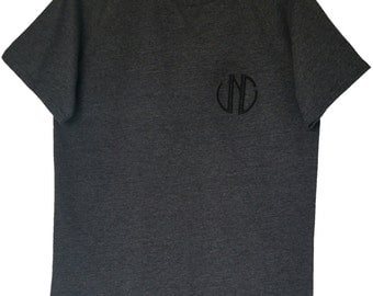 Mens T.shirt (Two colours available) Long Tee with curved hem & 3D Embroidery - All sizes available