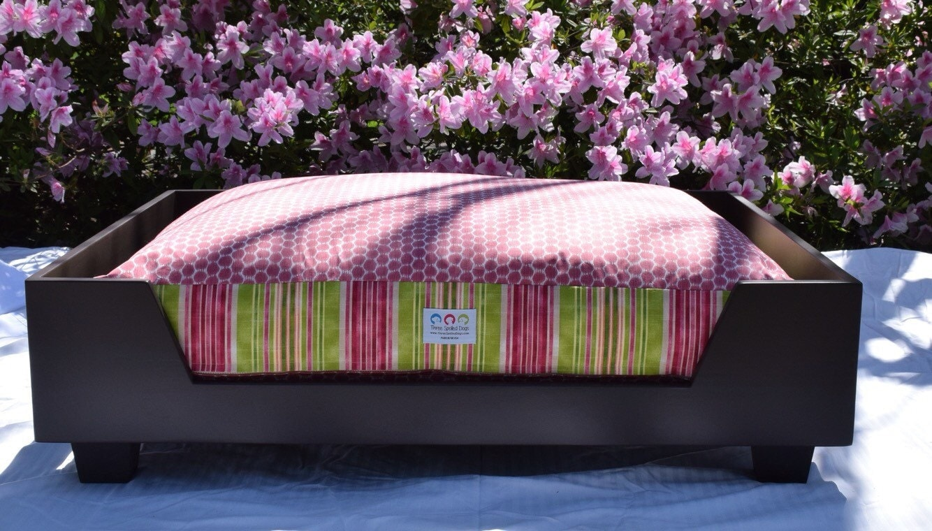 xl wood dog bed as seen in southern living magazine designer custom wood bed extra large nc made by three spoiled dogs