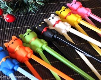 Maneki neko chopsticks for kids