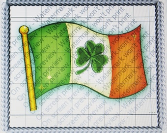 IRISH FLAG Edible Image
