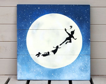 Peter Pan Wooden Sign Painting