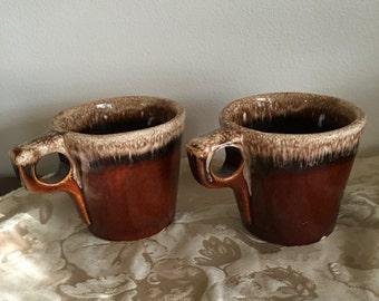 Vintage Hull coffee mugs