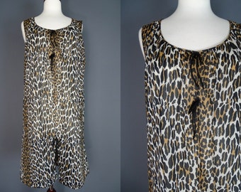 60's Leopard Print Nightie