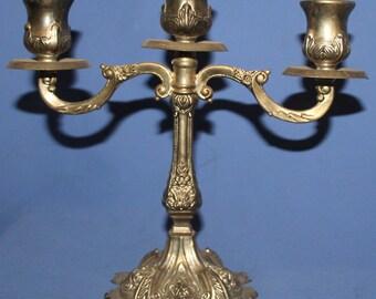 Vintage Ornate Floral Silver Plated Candlebra Candle holder