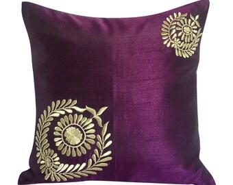 Purple Decorative Pillow Purple Pillows Purple Couch Pillow Purple Accent Pillow 16x16 Purple Pillow Purple Throw Pillow Purple Home Décor