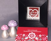 Love You framed Mini Papercut